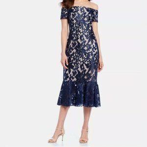 Calvin Klein Off The Shoulder Sheath Dress Floral